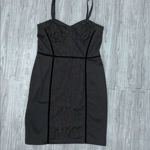 Jessica Simpson lace detail little black dress